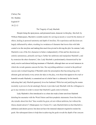 Act Example Essays Sample Essays Macbeth