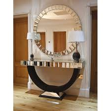 chemy mirrored round glass small side table