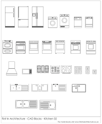 Autocad For Kitchen Design Free Cad Blocks From First In Architecture Kitchen Autocad