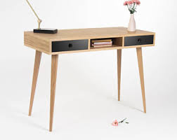 office bureau desk. Office Table, Small Desk, Bureau, With Black Drawers, Mid Century Modern, Bureau Desk L