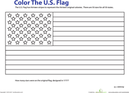 Small Picture USA Flag Worksheet Educationcom