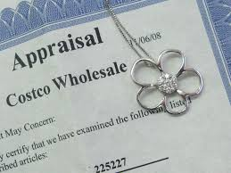 details about costco flower diamond white gold pendant necklace 25ct 20