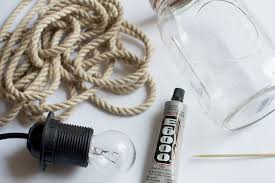 rope mason jar lights. Above: The Rope Acts As A Shade Creating Diffuse Light. Mason Jar Lights