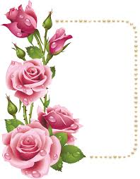 beautiful pink rose flower clipart 4261 17kb