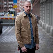 Light Jacket For Work Details About Maden Mens Waxed Canvas Cotton Jacket Military Light Spring Work Jacket Khaki