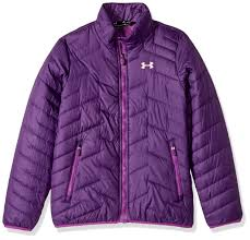Under Armour Kids Girls Ua Coldgear Jacket Big Kids Indulge Purple Rave Pop Pink Small