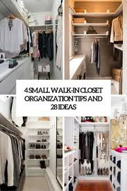 4 small walk in organization tips and 28 ideas cover