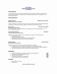 coaching resume example soccer coach resume example best of coach resume template sample