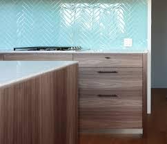 Beautiful Tiles For Kitchen Beautiful Aqua Color Glass Tile Kitchen Backsplash In Herringbone