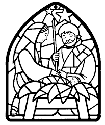 Stained Glass Pictures To Color For Christmas Stained Glass Nativity