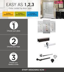 delta shower door configurator from component item
