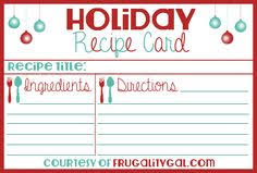 printable blank recipe cards printable blank christmas recipe cards download them or print