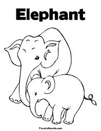 E Is For Elephant Coloring Page Math Worksheets Multiplication