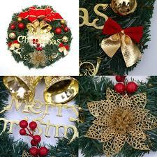 Cozywind Weihnachtskranz 30cm Druchmesser Tür Kranz Außen Weihnachtsdekoration Für Tür Und Fenster Deko Wandkranz Weihnachtsdeko Rot