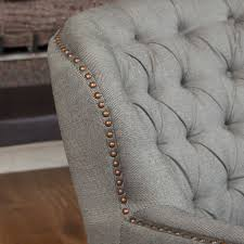 tufted leather club chair at brand new t