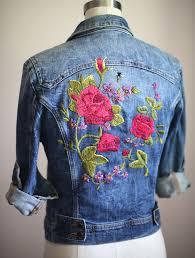 gucci jean jacket. embroidered denim, floral embroidery, inspired by gucci garden, jean jacket, jacket