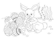Osterhase malvorlage kostenlos zum ausdrucken. Ausmalbilder Ostern Osterhase Ostereier Kinder Malvorlagen