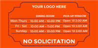 Closing Early Sign Template Store Hours Signs Templates Signs Com