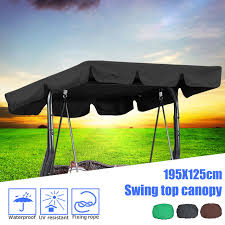 garden swing chair awning waterproof top cover canopy replacement for garden courtyard ourdoor swing chair hammock canopy