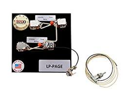 amazon com 920d custom shop les paul jimmy page wiring harness w 920d custom shop les paul jimmy page wiring harness w switchcraft toggle