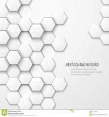 Abstract Vector Background With Hexagon Elements Stock Vector