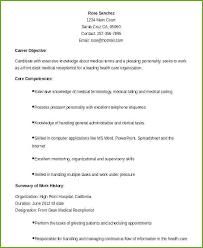 Dental Office Resumes Receptionist Resume Objective Emelcotest Com
