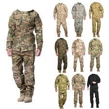 Satın almak online Erkek askeri üniforma airsoft kamuflaj taktik takım  elbise kamp ordu özel kuvvetler savaş ceketler pantolon militar av  kıyafetleri | Mısc - Butce-Kuresel.cam