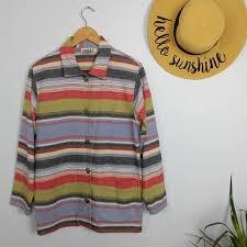 Chicos Design Western Serape Shirt Jacket 0 S