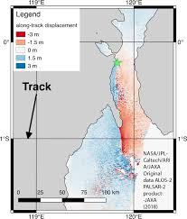 Aria Along Track Deformation Map Of The M7 5 September 28