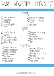 list of items needed for baby baby gift registry checklists