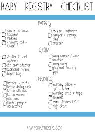 Baby Gift Registry Checklists
