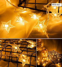 6m 19 Ft 40 Led Battery Powered Fairy Star String Light Warm White For Patio Wedding Bedroom Indoor Princess Castle Play Tents