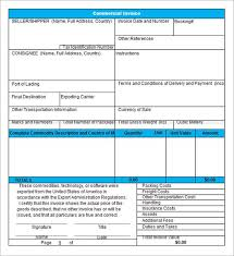 Commercial Invoice Template Excel Free Download Free Excel