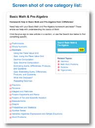 top math websites for parents and kids math websites example category list
