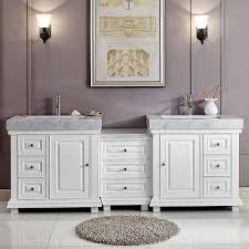 bathroom vanities with makeup table. 90 Bathroom Vanity Double With White Ceramic Sink Cherry Vanities Makeup Table