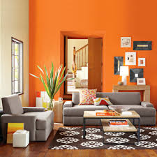 Orange Paint Colors For Living Room Beautiful Bright Orange Paint Color For Your Interior Room Pizzafino