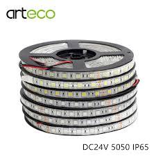 <b>DC24V SMD 5050 LED</b> strip flexible light IP65 waterproof 60 leds/m ...
