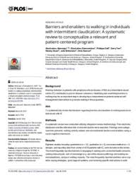 walking journal barriers and enablers to walking in individuals with intermittent