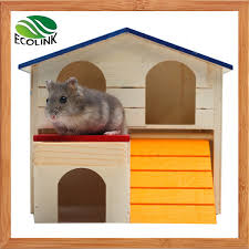 china small animal pet hideout hamster house ladder guinea pig cages deluxe two layers wooden hut play toys chews china pet products pet supply