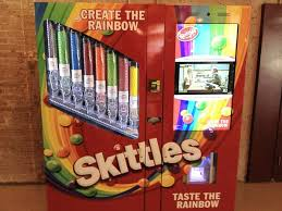 Create The Rainbow Skittles Vending Machine Extraordinary Kevin Hussey On Twitter Skittles Vending Machine At Work Yes