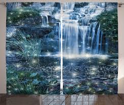 Waterfall Home Decor Waterfall Curtains 2 Panels Set Magic Fairy Cascade Home Decor Ebay