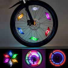 Bike Tire Lights Ledgle Colorful Bike Wheel Lights Spoke Light 6 Pack Led Waterproof Tire Lights For Bicycle Decoration 3 Lighting Modes Battery Powered Batteries