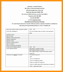 Sample Police Report Template Elegant Free Incident Report Form