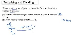 Multiply and Divide Compound Customary Units of Weight ...