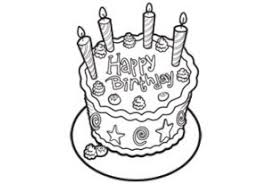 Small Picture Coloring Activity Pages Birthday Cake with 4 Candles Coloring Page