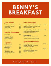 Breakfast Menu Template Custom Customize 48 Breakfast Menu Templates Online Canva