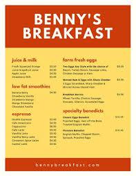 Sample Breakfast Menu Template Interesting Customize 48 Breakfast Menu Templates Online Canva