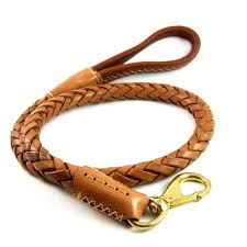 2019 genuine leather dog leash leads pet braided dog chain with buffer spring handmade pet training belt for husky golden retriever from smilemen