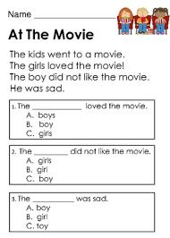 Kindergarten Reading Comprehension Passages with Multiple Choice ...Kindergarten Reading Comprehension Passages with Multiple Choice Questions