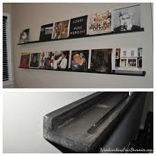 Bold Idea Vinyl Record Shelves Stunning Decoration Diy Shelf